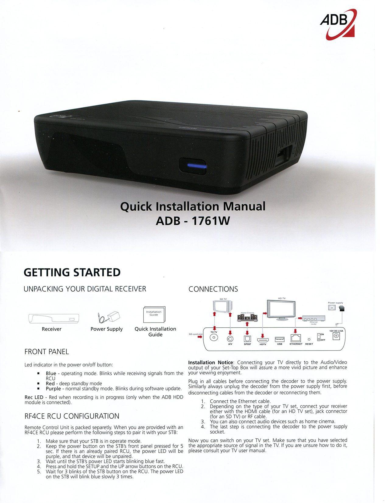 61+ Adb 3800w Manual - Adb Model 3800 W Manual, AAL 2009 2